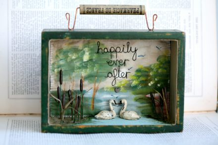"""""""Happily Ever After"""", Swan Storybox"""