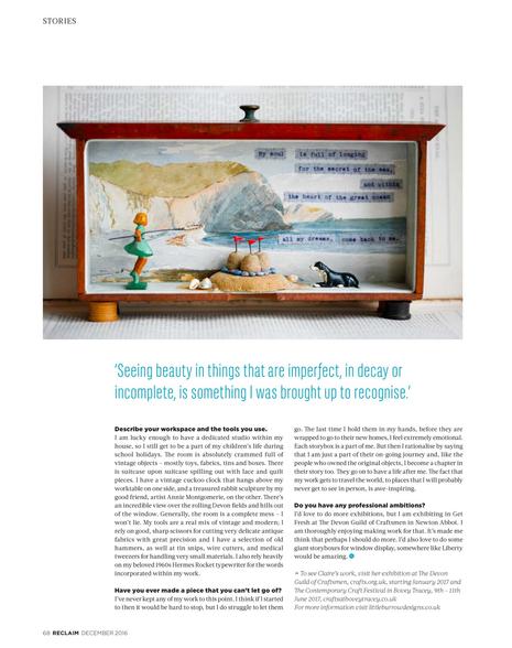 Little Burrow Designs, Claire Read, Interview Reclaim Magazine (3)