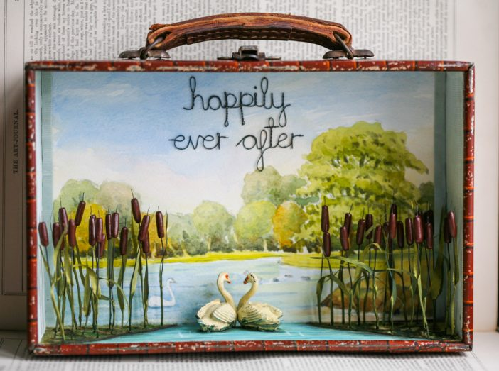 """""""Happily Ever After"""", Swan Storybox Sculpture – £260 – £360"""