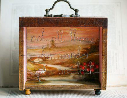 """The Wandering Flamingo"" Storybox Sculpture"