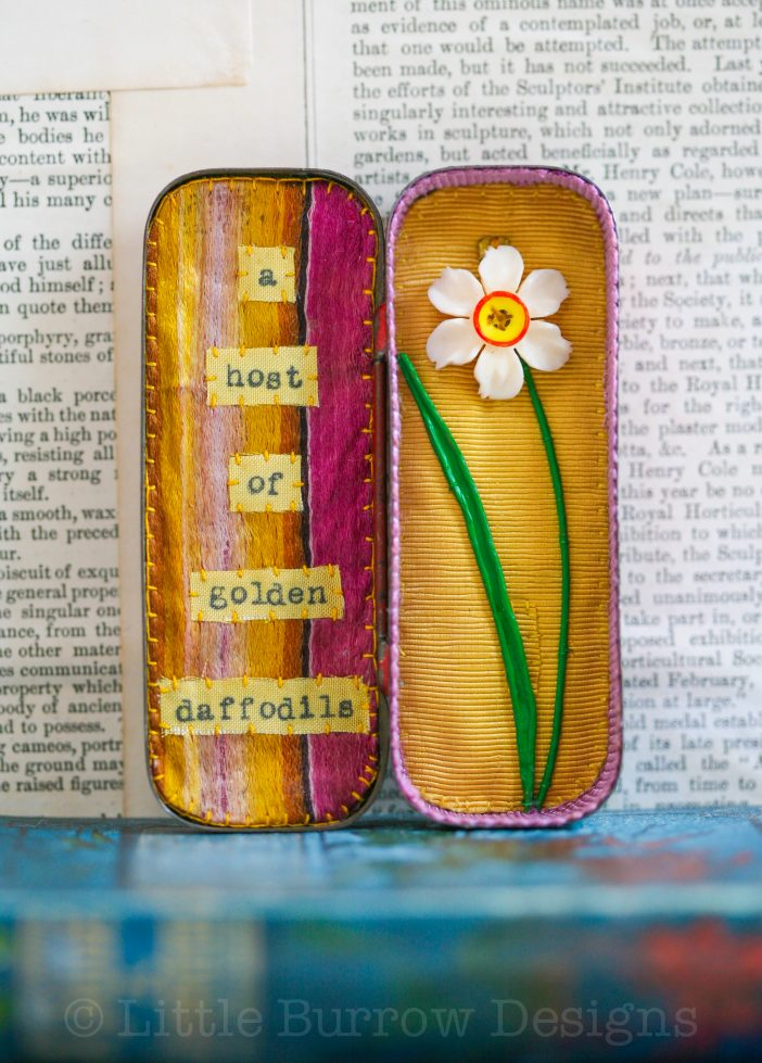 Daffodils, miniature Storybox – £95