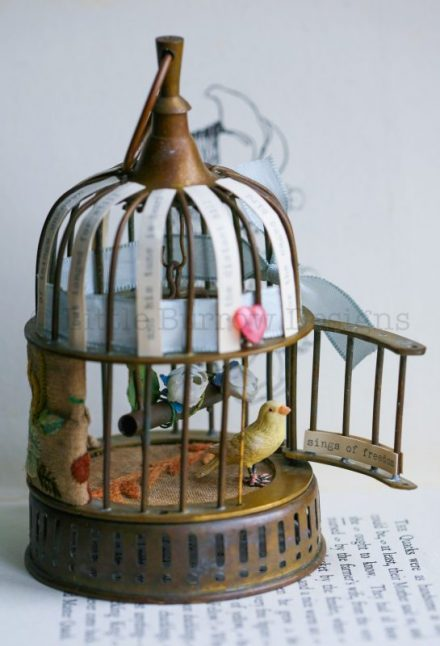 """Caged Bird"" Sculpture, £285"