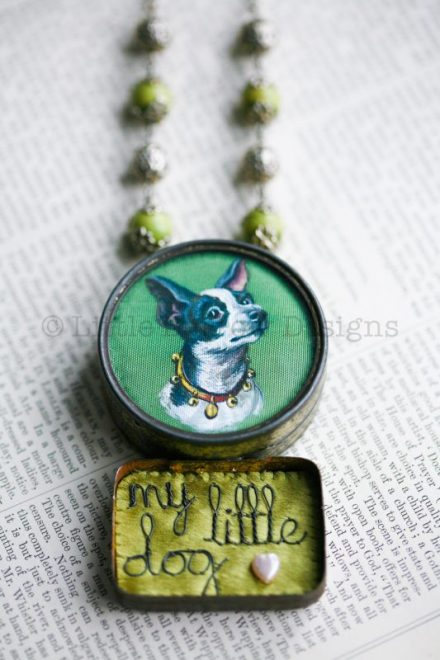 """My Little Dog"" Storybox Necklace – £195"