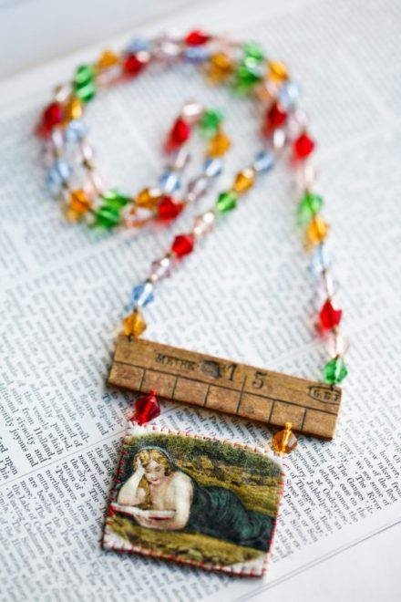 """BOOK LOVER"" NECKLACE – £60"