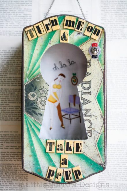 """Take a Peep"" Storybox (green), £225"