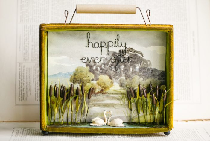 """Happily Ever After"", Swan Storybox Sculpture – £260 – £360"