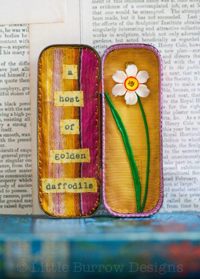 Daffodils, miniature Storybox – £95