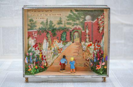 """""""The Secret Garden"""" Storybox Sculpture"""