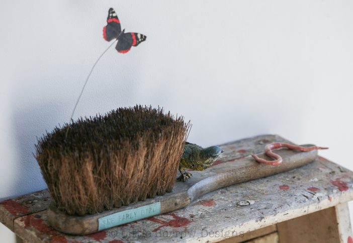 """The Early Bird"" Brush Sculpture, £385"