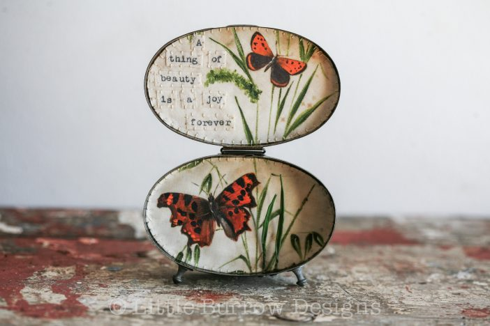 """""""A Thing of Beauty"""", Butterfly Storybox Sculpture – £175"""
