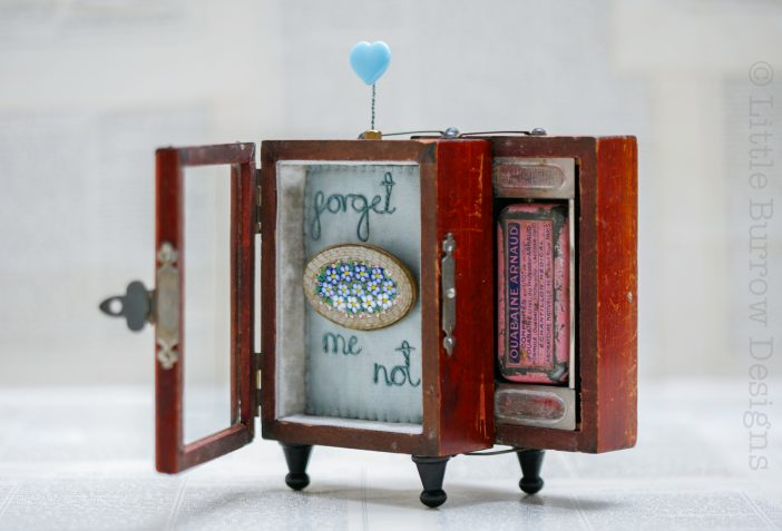 """Forget-me-Not"", Glazed Front Storybox Sculpture, £195"