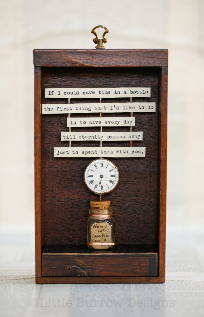 """""""Time in a Bottle"""" Storybox Sculpture, £225"""